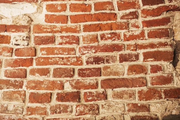 붉은 벽돌 벽, 돌 배경 질감