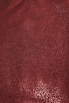 加工された赤いシープスキン牛革の質感