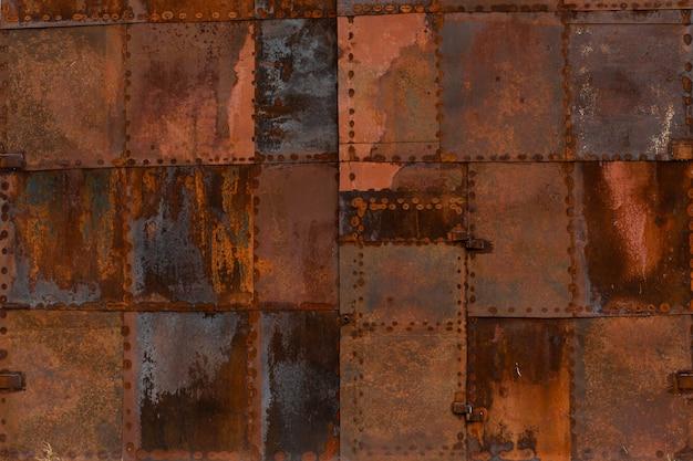 Текстура ржавого металла из квадратных пятен