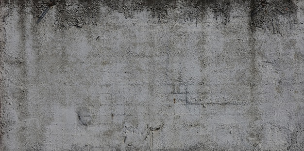 Текстура старой выбитой бетонной стены в сером цвете. фон