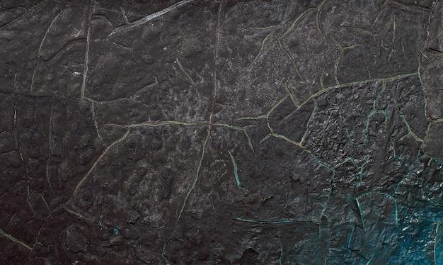 Текстура старой стены с обугленной краской