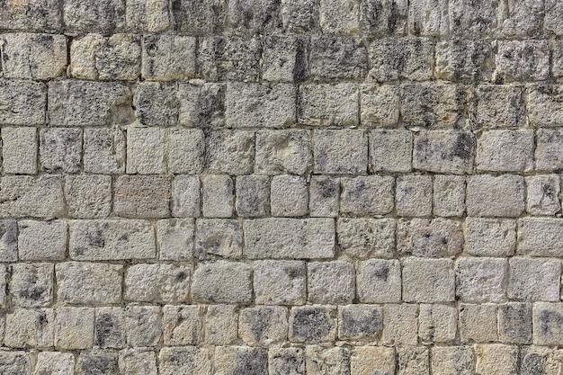 メキシコのチチェンイツァの考古学複合施設にあるジャガー神殿を構成する壁とレンガの質感