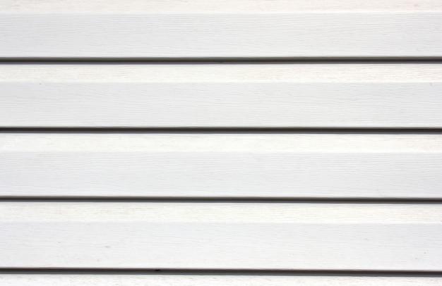 白い塗られた木製の裏地板のテクスチャ