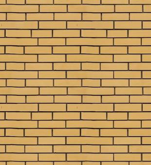 노란 벽돌 클래딩 타일 텍스처의 질감