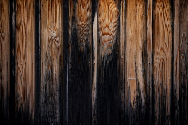 Texture of old brown wooden board background