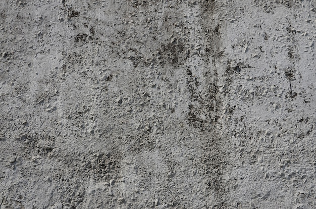 Texture of the old embossed concrete wall in gray color.