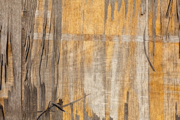 Texture of old gray and yellow plywood