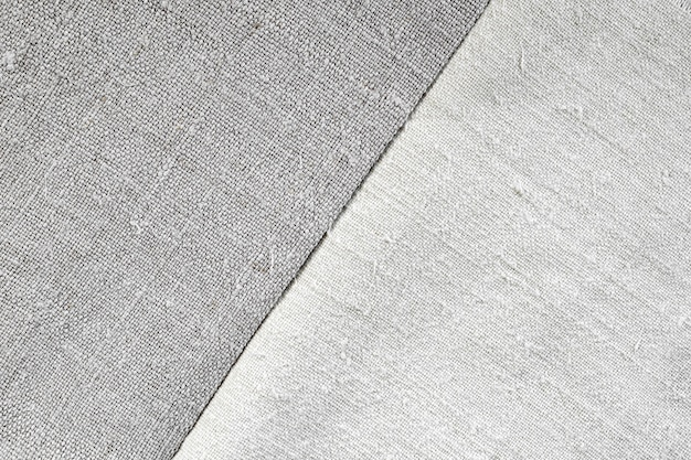 Texture of old linen and hemp fabric