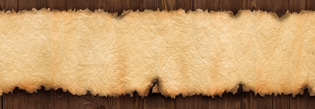 Texture of old paper on the table as background for text