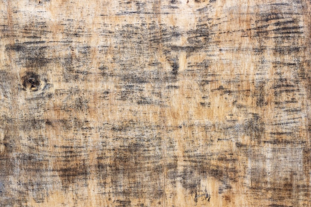 Texture of old plywood, blackened wooden background
