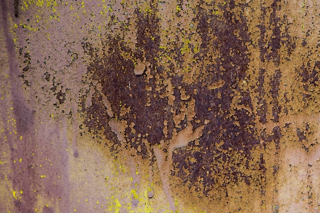 The texture of the old rusty metal.