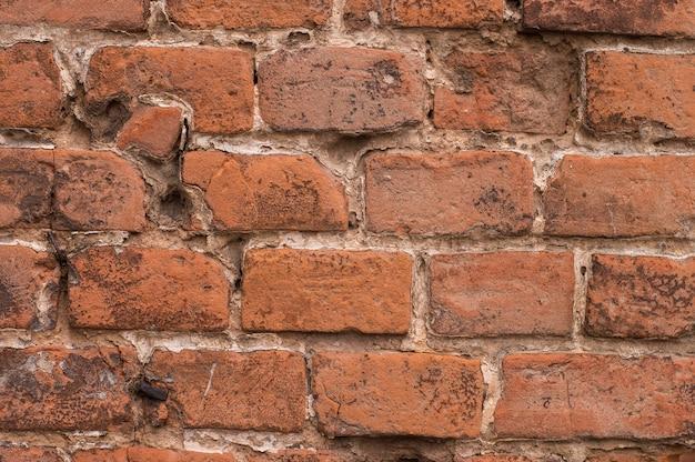Texture of old vintage red brick