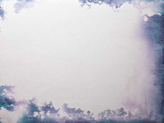 Texture of old white paper, crumpled background. vintage ivory grunge surface with purple and blue frame.
