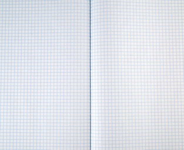Texture of an open school notebook in a cell