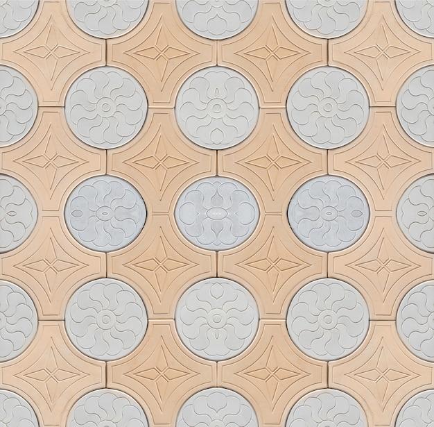 壁の石のテクスチャパターン