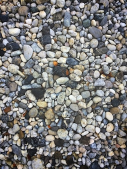 Текстурный узор из галечного гравия и мелких камней в дорожке для садового интерьера de