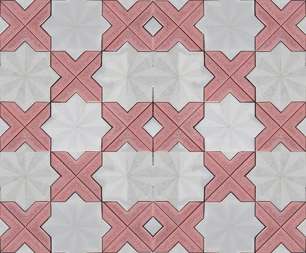 赤い壁の石のテクスチャパターン