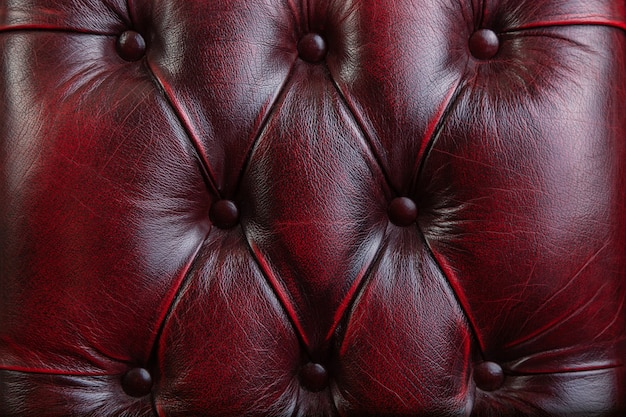 Texture and pattern of red dark leather