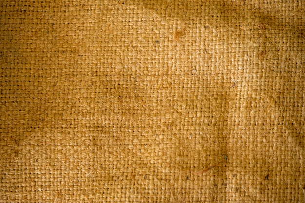 The texture pattern of the sack is dark but is clear in detail.
