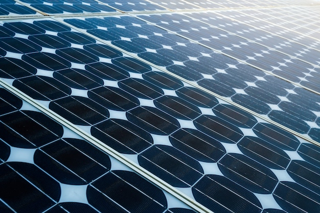 Texture of  photovoltaic panels solar panel background