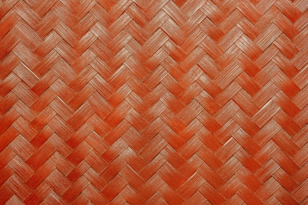 Texture of red bamboo wicker.