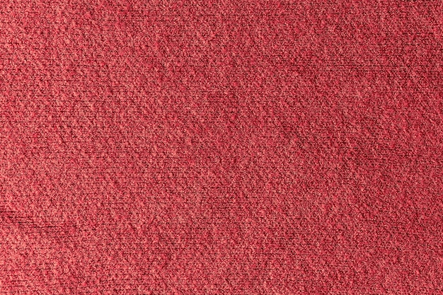 Texture of a red wool sweater