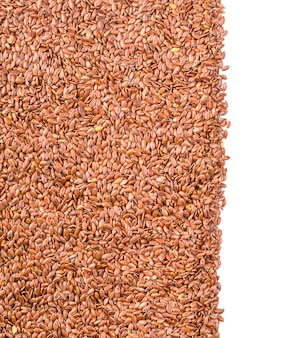 Texture of roasted brown flax seed or linseed