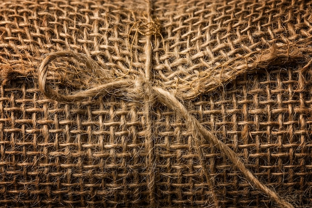 The texture of the rope fabric macro