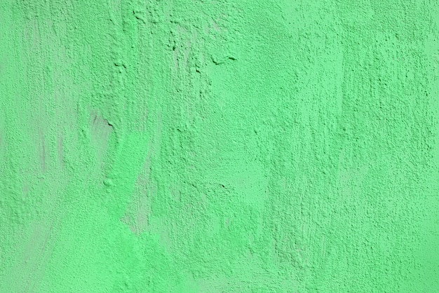 Texture of rough green plaster. architectural abstract background.