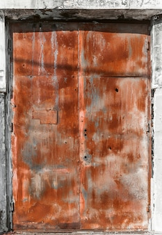 Texture rusty iron gate