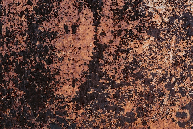 Texture of rusty old metal with corrosion. grunge style dirty iron background