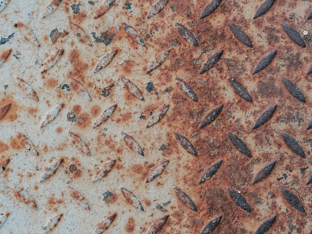 Texture of rusty old metal with corrosion