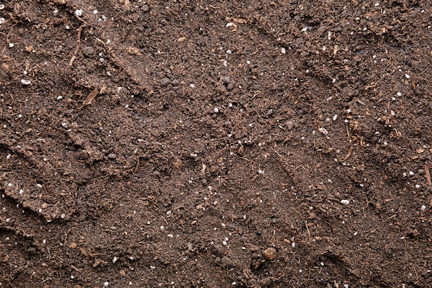 Texture of soil as