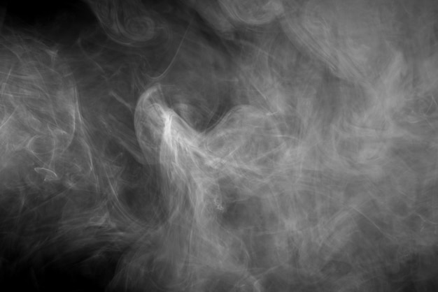 Texture of steam on a black background