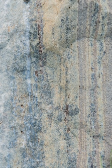 The texture of the stone with various impregnations.
