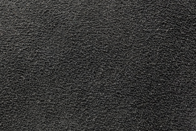 The texture of the suede in black