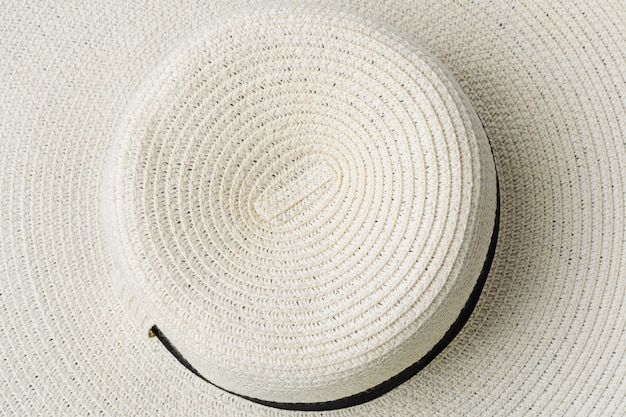 Texture of summer hat
