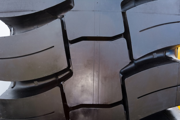 Texture of truck rubber tire