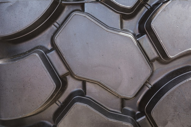 Texture of truck tire, selective focus