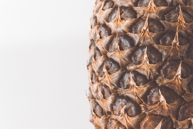 Texture two-tone pineapple close up for background