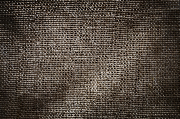 The texture of a very old brown sack cloth