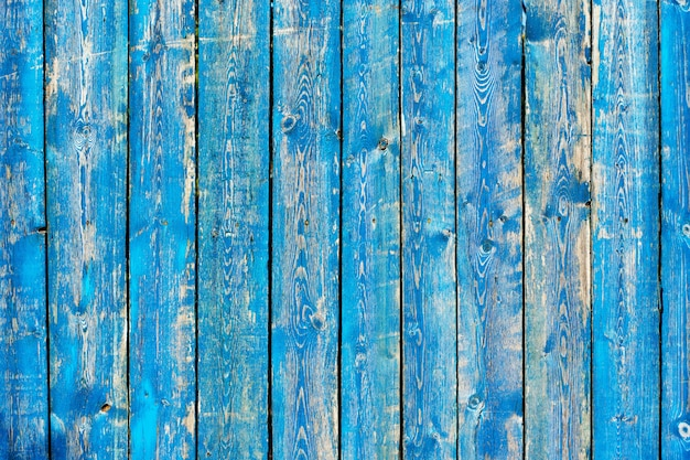 Texture of vintage blue and turquoise wood