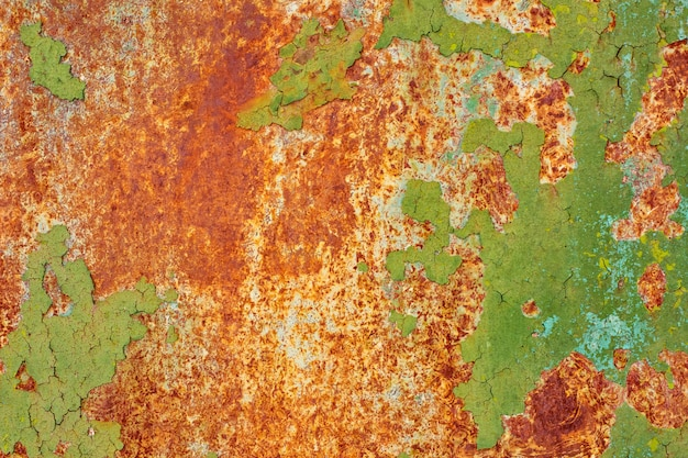 Texture of vintage painted iron wall