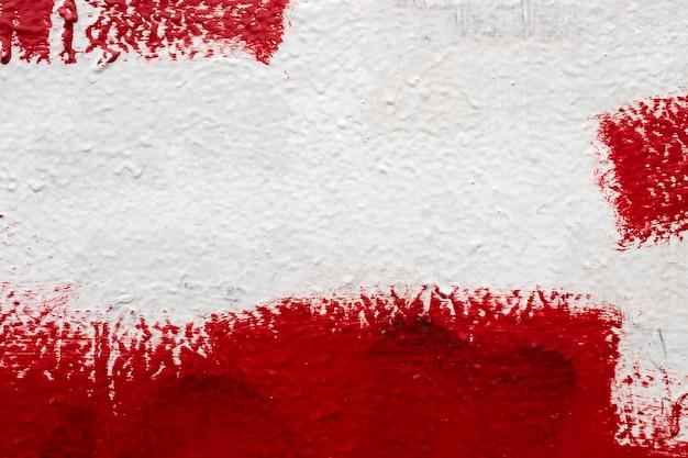 Текстура стены, капельная краска, шпатлевка, красно-белая стена