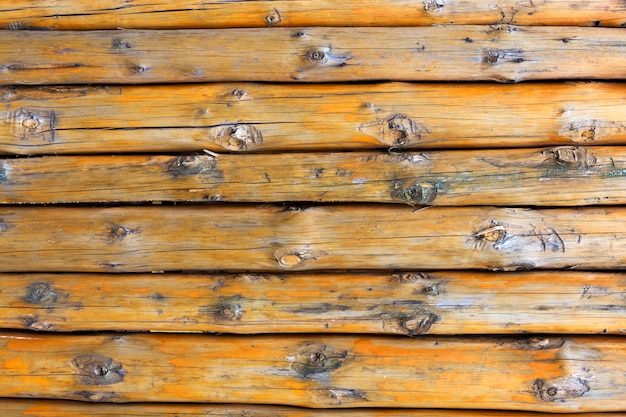 Texture. wall of logs.