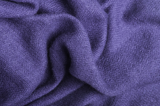 The texture of warm knitted lilac