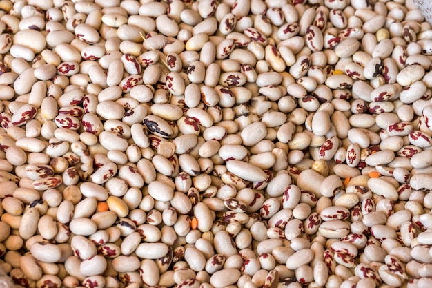 The texture of the white beans healthy food.