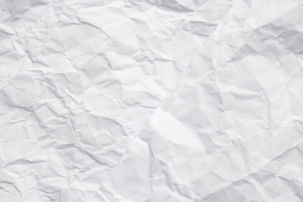 Texture of white crumpled paper for background. new style made from two crumpled papers. Premium Photo