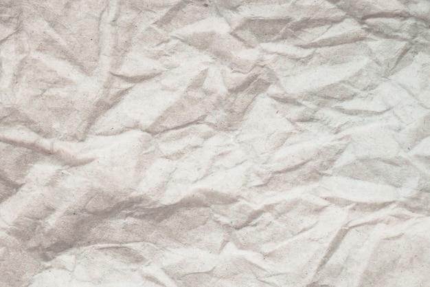 Texture white crumpled paper background.