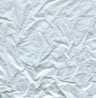 Texture of white crumpled polyethylene background